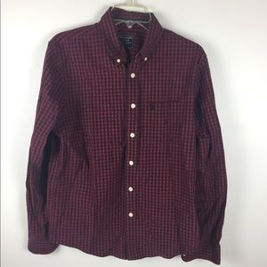 Abercrombie & Fitch Red Plaid Muscle Shirt Sz M